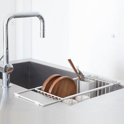 水切りかご 水切りラック 水切りかご キッチン [nsp ディッシュラック(ホワイト)] ステ…