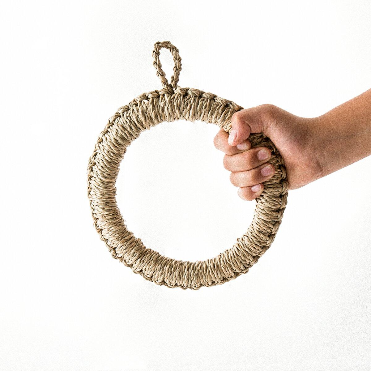 鍋敷き 鍋しき [《メール便可》イ草鍋敷 Φ180mm] キッチン#SALE_TB