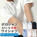 【返品OK】ニットワイシャツ ノーアイロン ワイシャツ 半袖 形態安定 メンズ 夏 クー