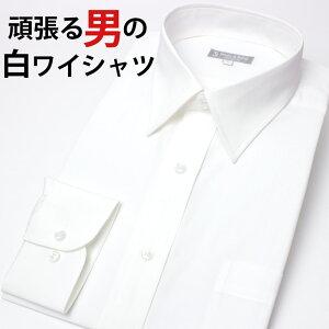 ワイシャツ ホワイト カッターシャツ レギュラー シンプル ビジネス 冠婚葬祭 フォーマル