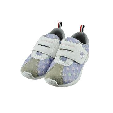 ルコック スポルティフ le coq sportifMONTPELLIER V ART F モンペリエ V アート F 軽量 マジックテープ 面ファスナー ベルクロ ラベンダーハート パープル 水玉 ドット 23(LAVENDER HEART) QL5RJC04 スニーカー キッズ ジュニア 子供 女の子 シューズ 靴