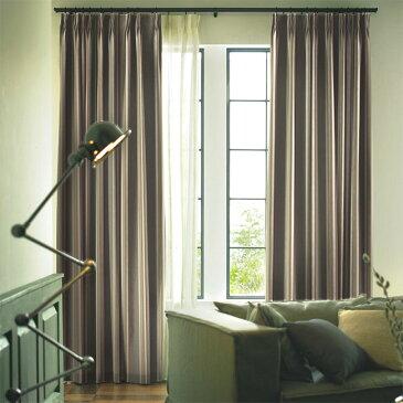 スミノエ colne コルネ pilier ピリエサイズ:幅100cm×丈200cm【1枚入り】既製サイズ 厚地カーテン コットン日本製 ウォッシャブル カーテン杢糸をざっくりと織り上げたヴィンテージ感のあるストライプです。