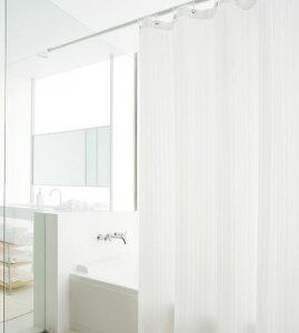 織り柄シンプルストライプ全2色ウォータープルーフシャワーカーテン仕上幅W:50cm~160cm仕上丈...