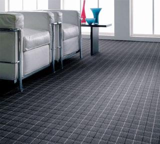 床へのキズを防いでくれるストライプアコードカーペット【約170cm×220cm】【日本製】防炎加工、防ダニ・抗菌加工、床暖房対応