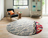 NEXT HOME アンナ ラグ【カラー:グレー】【サイズ:直径150cm円形】床暖房・ホットカーペット対応