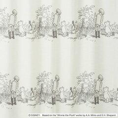 ディズニーくまのプーさんシークレットボイルレースカーテン