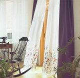 花柄刺繍のシアーレースオーダーカーテンスミノエ ulife[U-8008,U-8009](20)