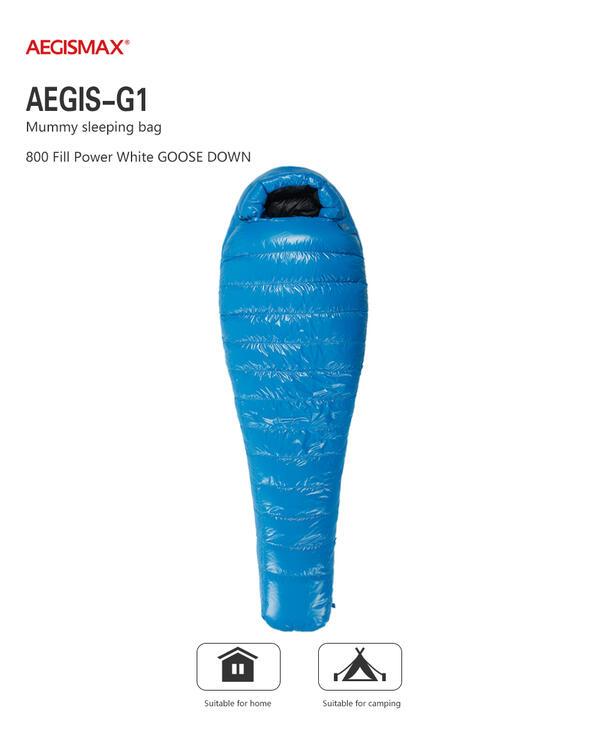 アウトドア用寝具, 寝袋・シュラフ AEGISMAX800FP (G1) (2M) -2 2 196x78cm