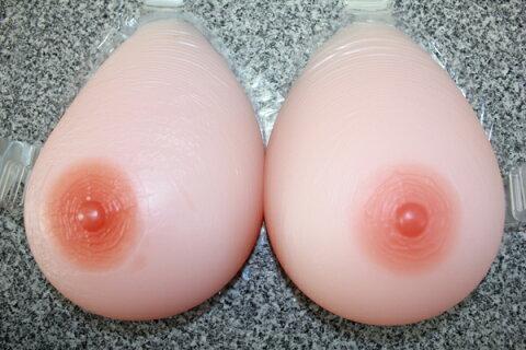 人工乳房 送料無料 mst1800 左右で1800g Nカップ シリコン製バスト高級人工乳房/シリコンおっぱい★シリコンバスト/人工乳房/女装/乳がん 02P05Dec15