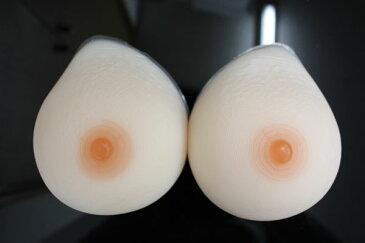 人工乳房 左右で800g by800 シリコン製 バスト 高級人工乳房 シリコンおっぱい シリコンバスト 女装 Cカップ 人口乳房【乳がん】 02P05Dec15