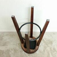 カウンタースツール座面ブラウン色(ハイタイプ:高さ約70cm)【在庫処分のためアウトレット扱い】北海道・沖縄・離島へは発送しておりません。(参考アンティークハイスツール木製ブラック茶色椅子いすイススツール木製スツール)