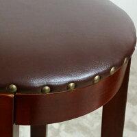 【カウンタースツール(ハイタイプ:高さ70cm)】送料無料!(北海道・沖縄・離島へは発送しておりません。)アンティーク調でオシャレなハイスツールです♪(参考:ダークブラウンこげ茶色椅子いすイスダイニングチェアー激安最安楽天)