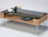 【ガラステーブル100cm幅】送料無料!50%OFF激安セールです!!!8ミリ厚の強化ガラスで安心♪積層木目がやさしい印象♪ガラス天板下に雑誌などディスプレイできます♪(参考:ブラウンナチュラルコーヒーテーブルローテーブル机デスク木製ウッド家具)