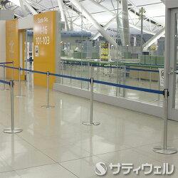 【送料無料】テラモトベルトパーテーションスタンドD(スチール)ベルトSU-660-510