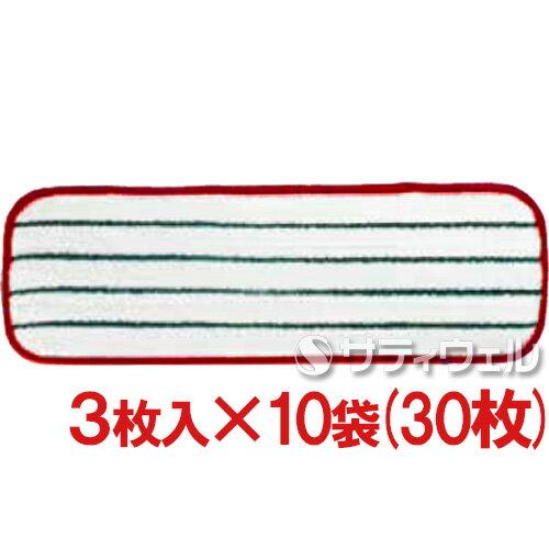 3M イージースクラブ フラットモップ 赤 3枚入×10袋(30枚)セット:サティウェル