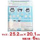 【送料無料】東洋機械 コスモフィルター レンジフード用 縦25.2cm×横20.1cm枠用 6枚入