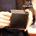 【レターパックプラス送料無料】ソメスサドル コードバン二つ折り財布 ハノーバー ブラック