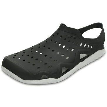 【2018新作】[メンズ] crocs swiftwater wave men クロックス スウィフトウォーター ウェーブメン Black/Pearl White