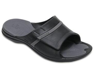 【2018新作】[メンズ] crocs MODI Sport Slides クロックス モディ スポーツ スライド サンダル Black/Graphite