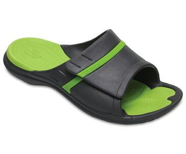 【2018新作】[メンズ] crocs MODI Sport Slides クロックス モディ スポーツ スライド サンダル Graphite/Volt Green