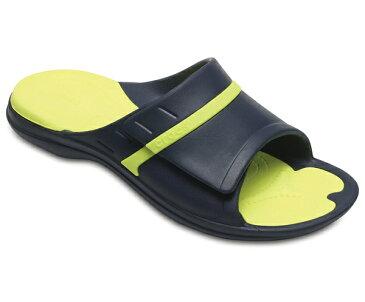 【2018新作】[メンズ] crocs MODI Sport Slides クロックス モディ スポーツ スライド サンダル Navy/Tennis Ball Green