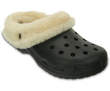 [レディース] crocs クロックス Classic Mammoth Luxe Shearling Lined Clog クラシック マンモス ラックス クロッグ サンダル Black
