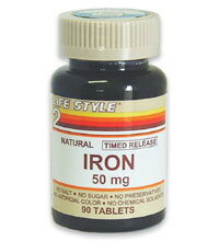 [P] iron 50 MG 90 tablets
