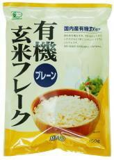 [muso]有机糙米薄片平面150g有机食品自然食材食物食物日本制造国内无农药有机大量购买|satsuma药店|