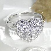 pt900【1.3ct】ダイヤモンドハートパヴェリング