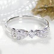 ジュエリー アクセサリー レディース リング・ホワイトゴールド・ダイヤモンド・ダイア・ パヴェリング・プレゼント・