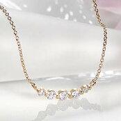 K18WG/YG/PG0.3ctグラデーションダイヤモンドネックレス