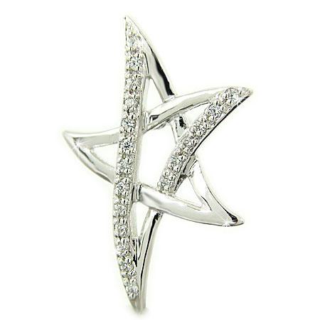 PT900 プラチナ 星 スター ダイヤ ラペルピン ピンブローチ:ジュエリーSAYAKA