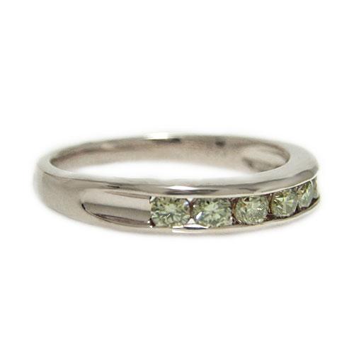 K18WGホワイトゴールド リング ブラウンダイヤモンド レール留め エンゲージ マリッジ 指輪 ブライダル 結婚指輪 誕生石