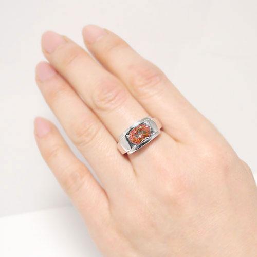 ガーネット リング プラチナPT900 ボリューム 大振り 指輪 記念日 誕生石