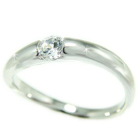 プラチナ Pt900 ダイヤモンド エンゲージ ブライダル リング 結婚指輪 鑑別書付 VS1