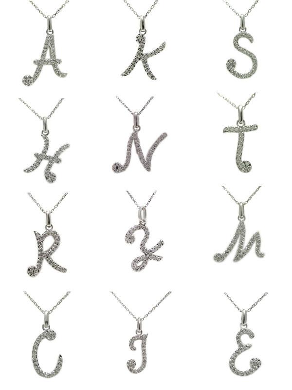 PT900プラチナ ダイヤ ダイヤモンド イニシャル ペンダント ネックレス アルファベット R ローマ字 天然石 誕生石