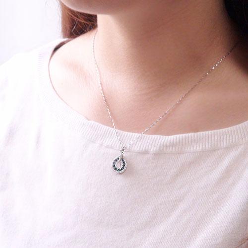 K10ホワイト/ピンク/イエローゴールド エメラルド ダイヤ ペンダント ネックレス 天然石 5月誕生石 レディースジュエリー