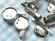 【ブローチ台/ピン・クリップ付/50個】中/凹/2.3cm/23mm/コサージュピン/ブローチピン/ブローチ金具/台座/4way/シルバー/silver/銀
