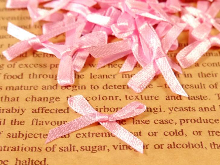 サテンリボン ピンク