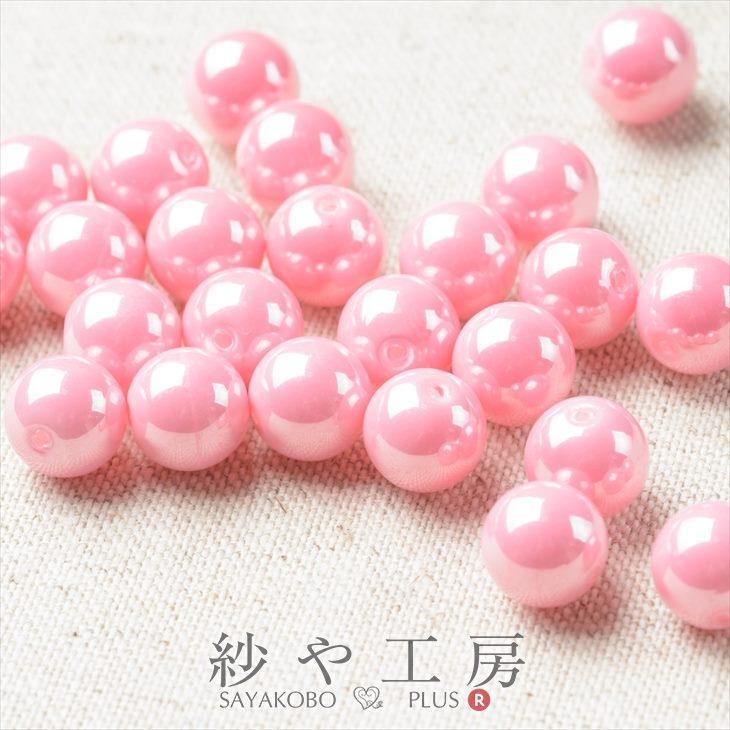 高品質クリスタルガラスパール ラウンド ピンク