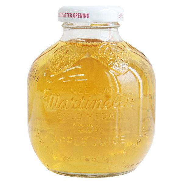 [8本セット] マルティネリ アップル ジュース マルチネリ コストコ おしゃれな瓶入り りんごジュース ストレート果汁 296ml×8本