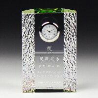 クリスタル置き時計おしゃれモダン小さいシンプルプレゼントインハウス