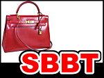 ●【SBBT】エルメスケリー32外縫いボックスカーフ赤ゴールド金具マル○U刻印本物