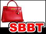 ●【SBBT】エルメスケリー32外縫いボックスカーフルージュ赤ゴールド金具マル○Y刻印本物ランクA