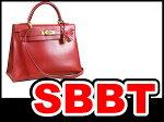 ●【SBBT】エルメスケリー32外縫いボックスカーフ赤ゴールド金具□C刻印本物ランクA!ハンドバッグ!ショルダーバッグ!32cm