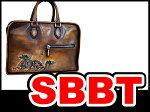 ベルルッティビジネスバッグブリーフケース書類鞄レザーブラウンドラゴン龍本物ランクA