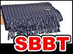 エルメス大判カシミヤストールショールネイビー(紺)×ホワイトピンストライプカシミヤ100本物未使用
