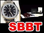 【PatekPhilippe】パテック・フィリップアクアノートラージRef5065A-001ステンレス×黒メンズ38mm腕時計本物新品同様!