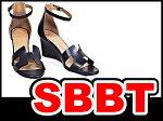 エルメス靴レディースシューズレザーサンダルアンクルサンダル#37(23.5cm位)レザー×黒×シルバー金具本物新品未使用