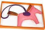 エルメスバッグチャームロデオチャームMMローズアザレ×パンデピス×ヴィオレアアニョーミロD刻印2019年製造ホース馬本物新品未使用